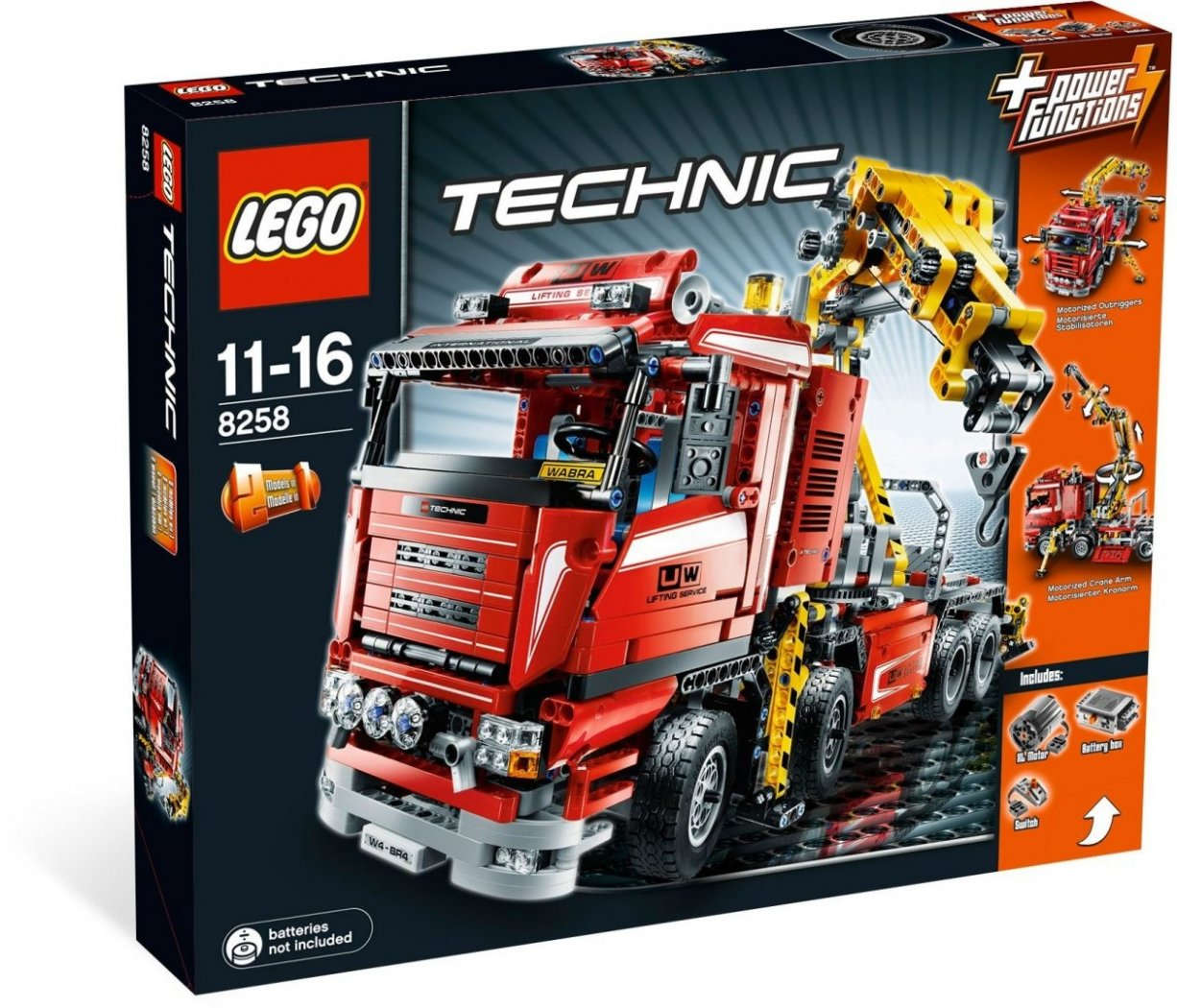 Lego Technic 8258 Nosturiauto Kaytetty