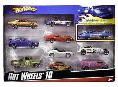 Hot Wheels Cars Giftpack 10 kpl/paketti