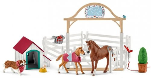 Schleich -Horse Club Hannah&s guest horses with Ruby the Dog - 42458