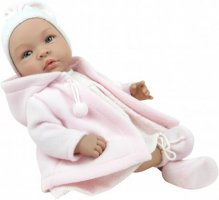 Asi dolls - Leonora doll with rose warm coat, 50 cm