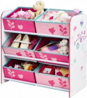 Flowers and Butterflies 6 bin storage unit by HelloHome