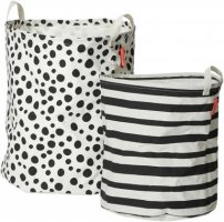 Soft Storage Basket 2 Pieces Black