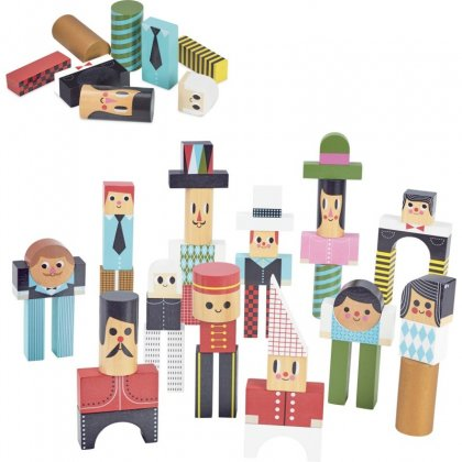 Vilac - Construction blocks with characters